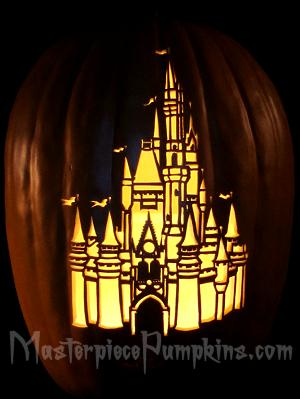 Cinderella Castle Pumpkin Stencil http   www masterpiecepumpkins com    Cinderella Pumpkin Stencil
