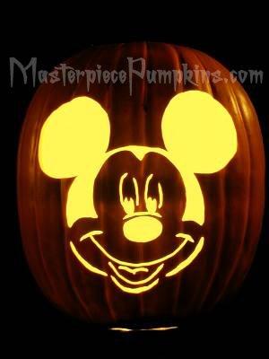 Mickey Mouse Pumpkin Pattern